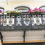 Balcony with Beautiful Wrought Iron Spindles