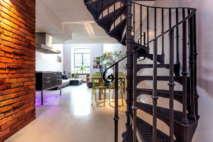 oak and wrought iron staircases