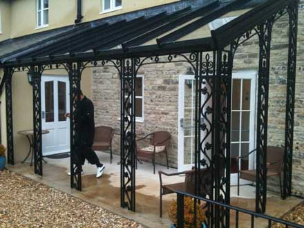 wrought iron verandahs