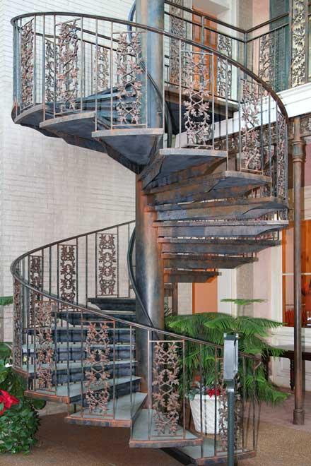 wrought iron spiral staircases